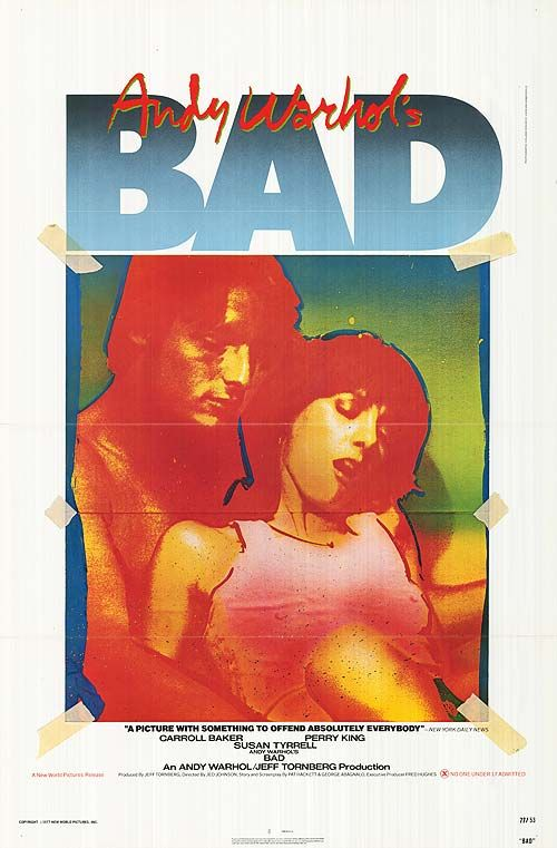 Andy Warhol Poster For His Film Bad Pop Art Poster Art Andy