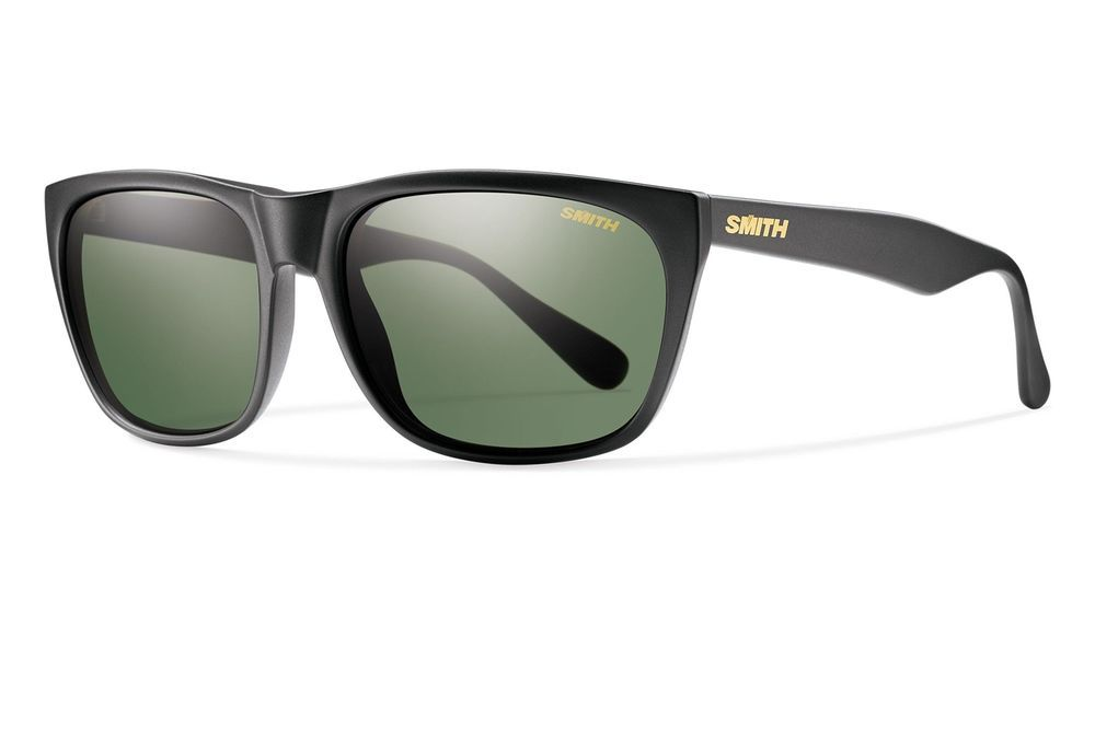 4516f2bc3253 eBay  Sponsored Smith Optics Smith Tioga Sunglasses Matte Black Frame  Carbonic Polarized Gray