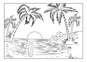 image result for printable scenery landscape free coloring pages - Printable Scenery Coloring Pages