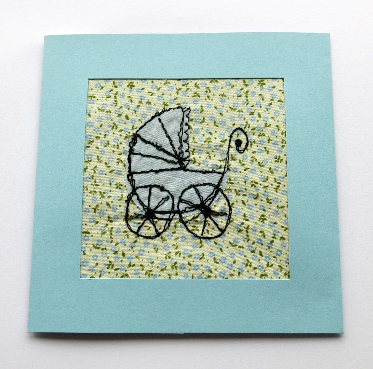 Baby boy card greeting card new baby card machine embroidered baby boy card greeting card new baby card machine embroidered applique kristyandbryce Image collections