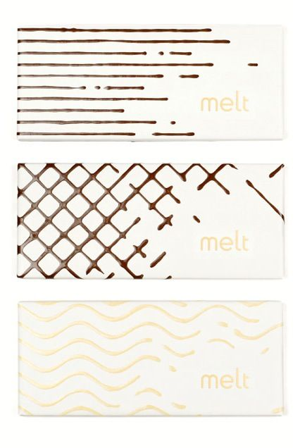 Melt Chocolate   White   Modern   Pattern