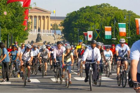 Don't leave your helmets at home! Tomorrow is the annual National Bike to Work Day - Join Mayor Michael Nutter & other cyclists to celebrate this day: