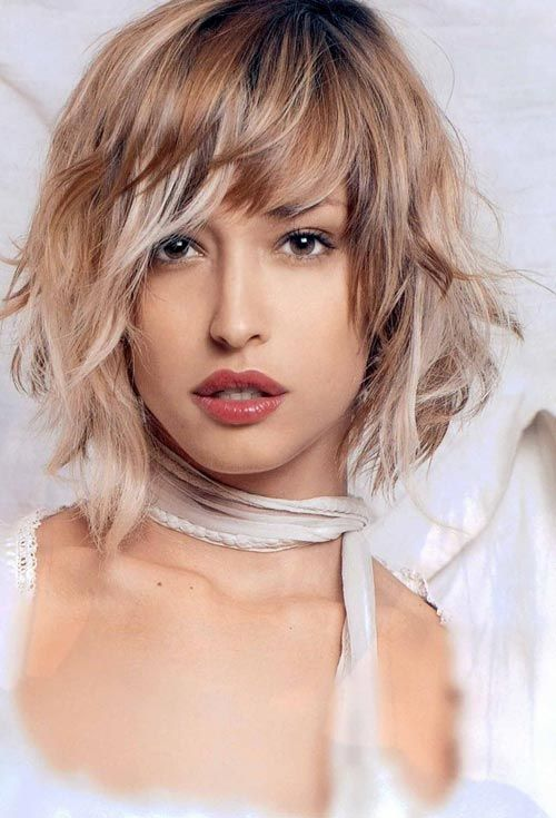 Coloring Ideas For Short Hair : Short wavy hairstyles for square faces with ombre hair color