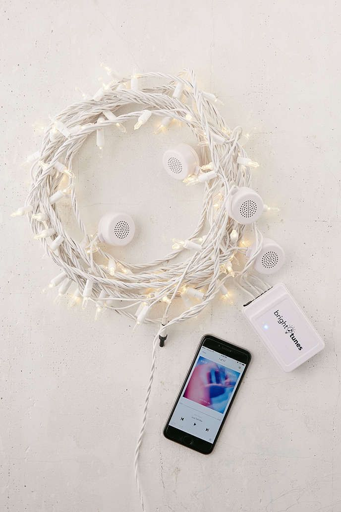 string lights and bluetooth speakers