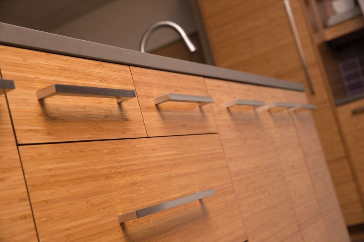 Trend Study Horizontal Grain Cabinets Make Kitchen Designs Modern Natural Bamboo Kitchen Cabinets Bamboo Cabinets Slab Door Kitchen