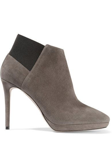 JIMMY CHOO Talula Suede Ankle Boots. #jimmychoo #shoes #boots
