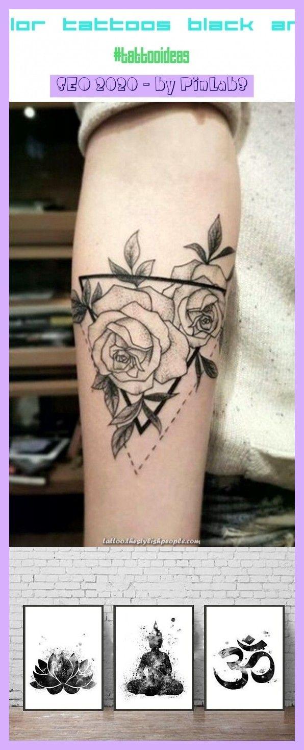 Watercolor tattoos black and white -tattoos ß #aquarelle Aquarell-Tattoos schwarz und weiß & tatouages aquarelle