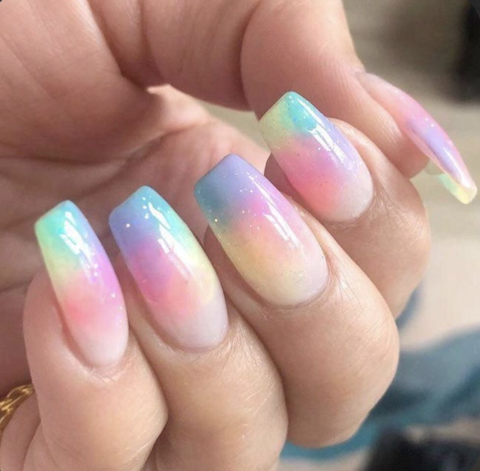 Tie Dye Nails In 2020 Tie Dye Nails Nail Designs Trendy Nails