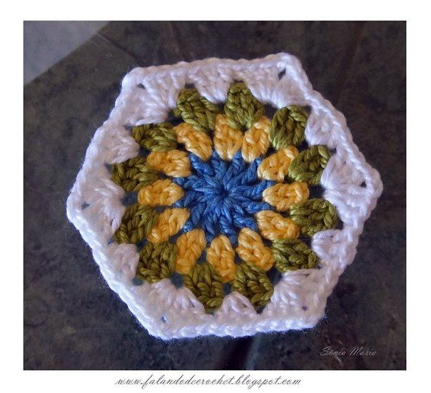 Gancho motivo hexagonal.   crochet   Pinterest   Ganchillo ...