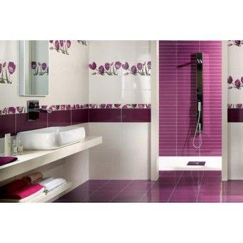 faïence bella violetta ray 452x20 deco salle de bain Pinterest