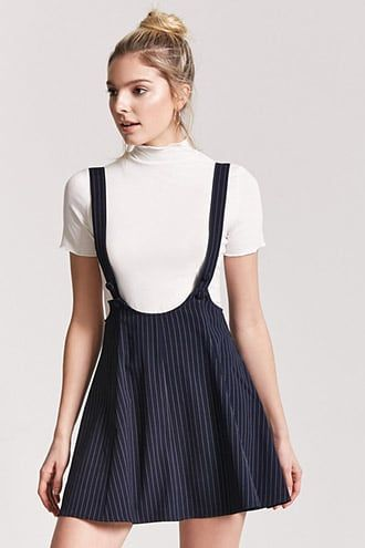 91852dde04 Pinstripe Overall Dress