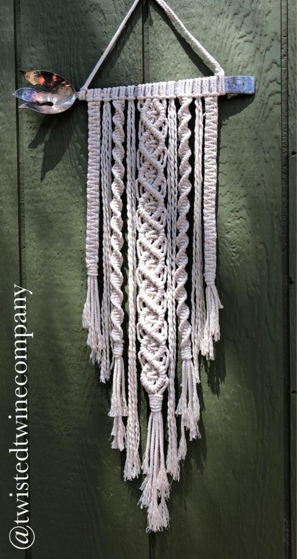 Dual Spirals Macrame Wall Hanging Kit Alaskacrochet Com Macrame Patterns Macrame Wall Hanging Diy Macrame Wall Hanging Tutorial