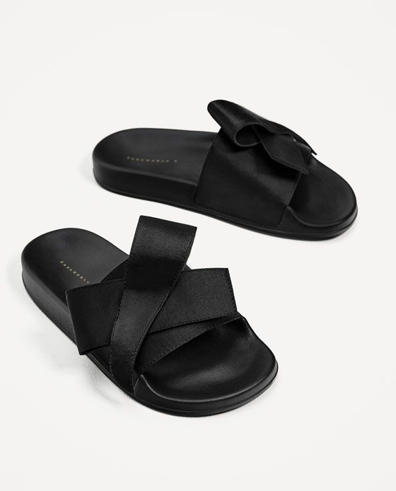 Image 3 of SATIN BOW SLIDES from Zara