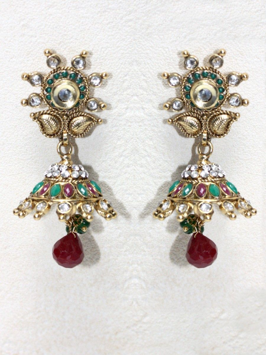 jivaana at earrings product party for wedding buy kundan and multicolor by work stone amara label