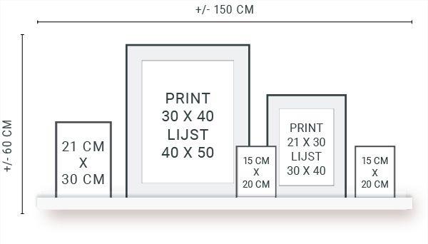Muurcollage maken – Tips & Trucs en gratis stramien – Printcandy