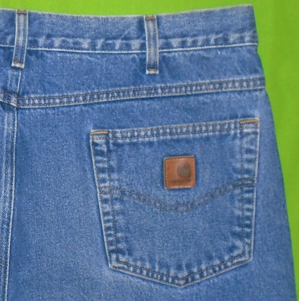 Carhartt Relaxed Straight Jean Mens Pants Workwear Pant Weathered Blue
