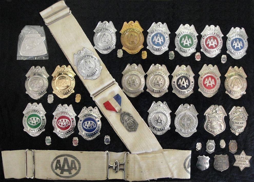 1960's saftey patroll badges. Childhood memories, Back