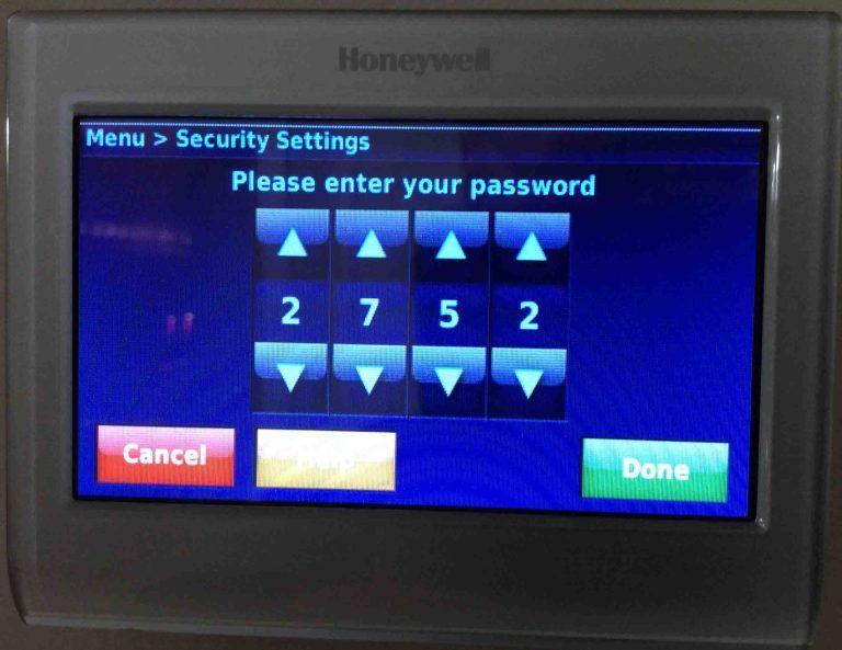 How To Lock Unlock Honeywell Thermostat Rth9580wf Tom S Tek Stop Honeywell Thermostats Honeywell Thermostat