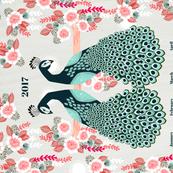 2017 Peacock Tea Towel Calendar by Andrea Lauren  by andrea_lauren