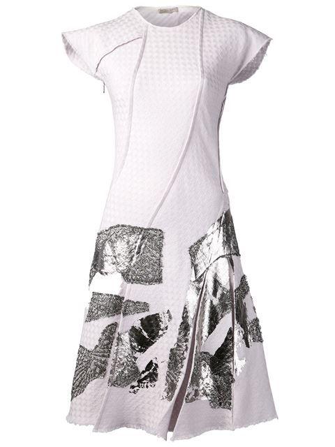 Bottega Veneta Cap Sleeve A-line Dress