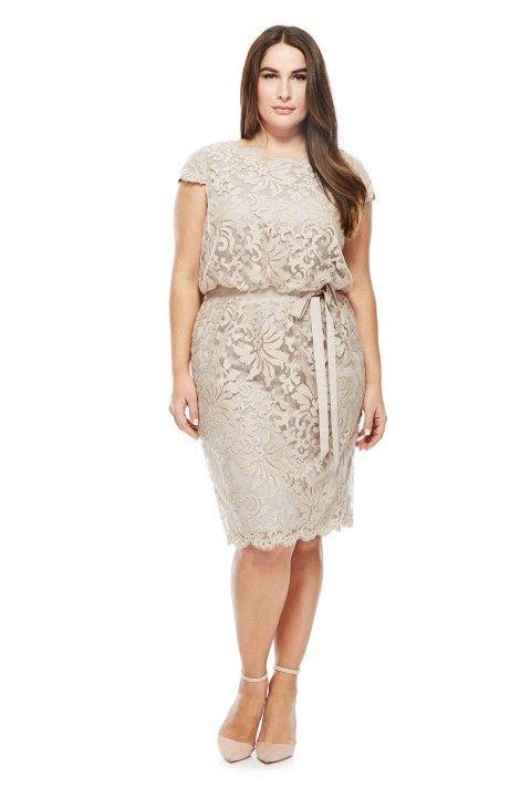Embroidered Lace Blouson Waist Dress - PLUS SIZE | DRESSES ...