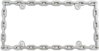 Chain Link Chrome License Plate Frame By Custom Accessories Custom License Plate Frames License Plate Frames License Plate