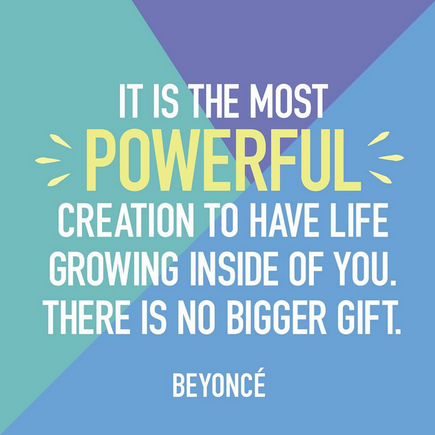 As difficult as pregnancy can be, it's helpful to remember how magical—and what a gift—it truly is. #parentingquotes #Beyonce #celebrityquotes
