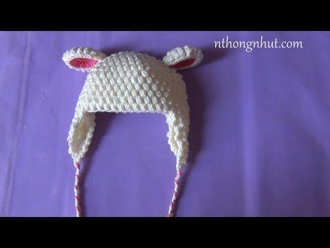 Hướng dẫn móc nón len: nón lông cừu ( mũi hạt bắp) - YouTube | kape ...