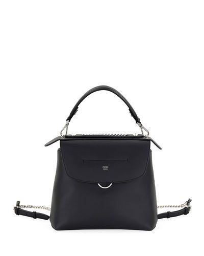 49a296b9843a FENDI Back To School Large Leather Backpack Crossbody Bag