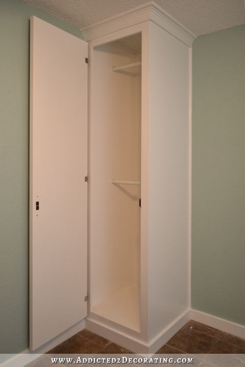 Diy How To Build Cabinet Style Closets To Flank Your Bed Double Your Bedroom Storage In 2020 With Images Build A Closet Diy Clothes Storage Diy Closet