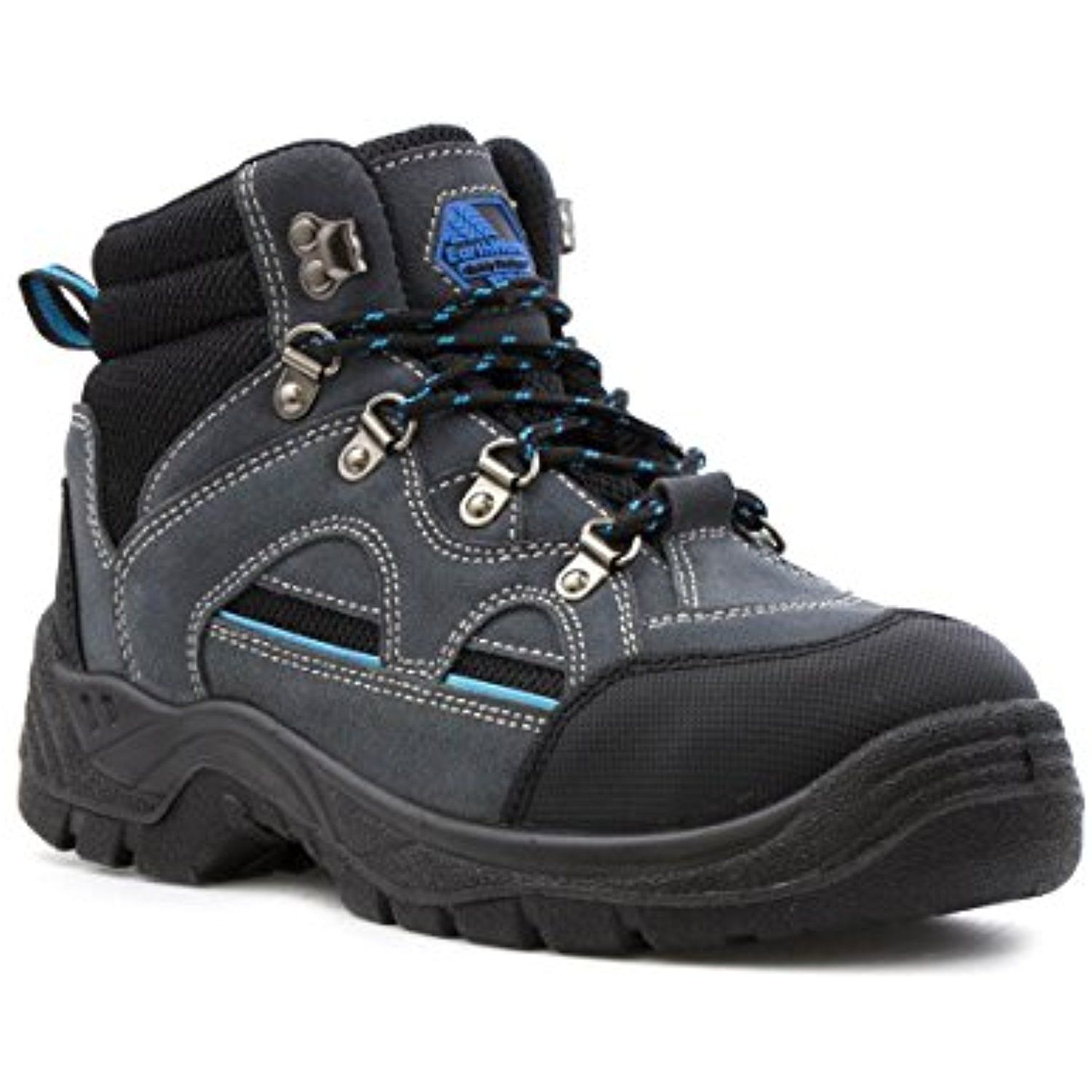 Womens Grey Lace Up Hiker Safety Boot