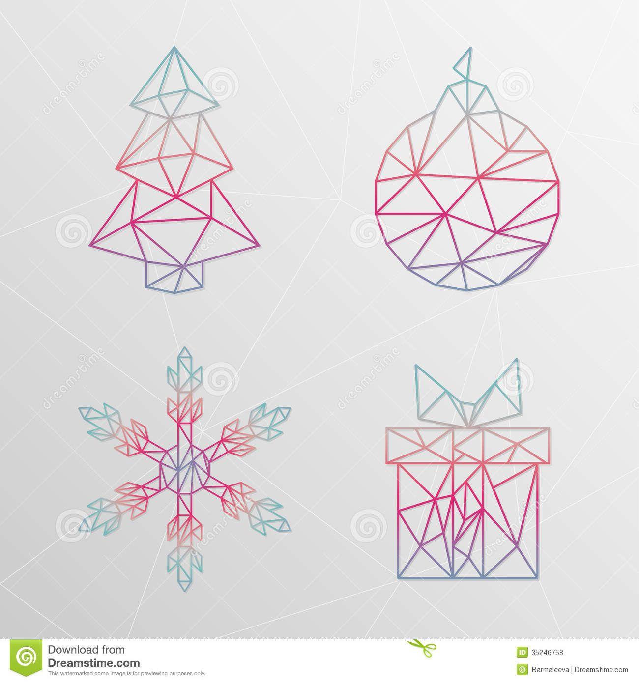 Abstract Geometric Christmas Designs