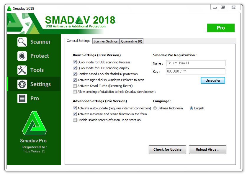 Smadav Pro Free 12 4 1 License key 2019 Download  Smadav Pro