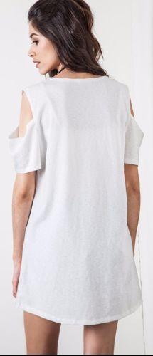 154b7f508c623 Umgee-Cold-Shoulder-T-Shirt-Dress-2-Colors-Sporty-Boho-Open-Cut-Out-B5458   Unique Boho Style