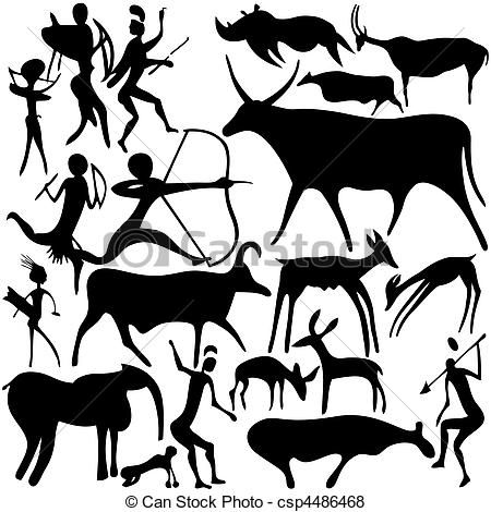 Cave Painting Vector Google Search Cave Paintings Cave Drawings Illustration