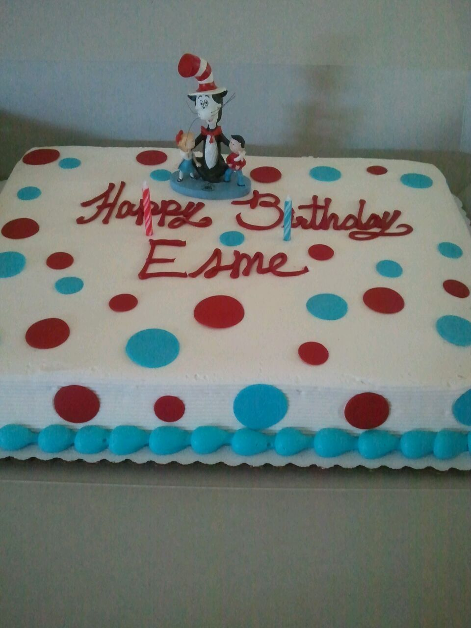 Simple cat in the hat cake from Safeway Birthday cakes Pinterest