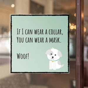 Cute dog mask sign printable puppy sign dog groomer Etsy