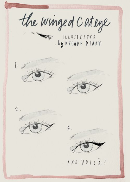 ✕ A pretty how to! / #makeup #beauty #illustration #art