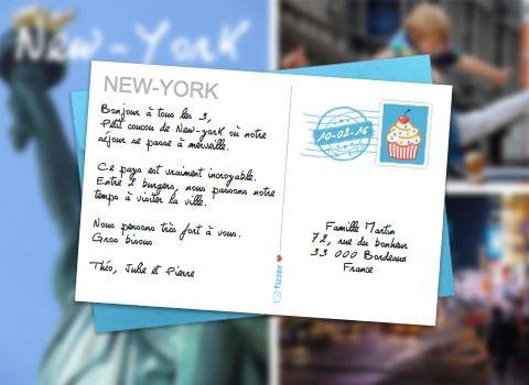envoyer un carte postale