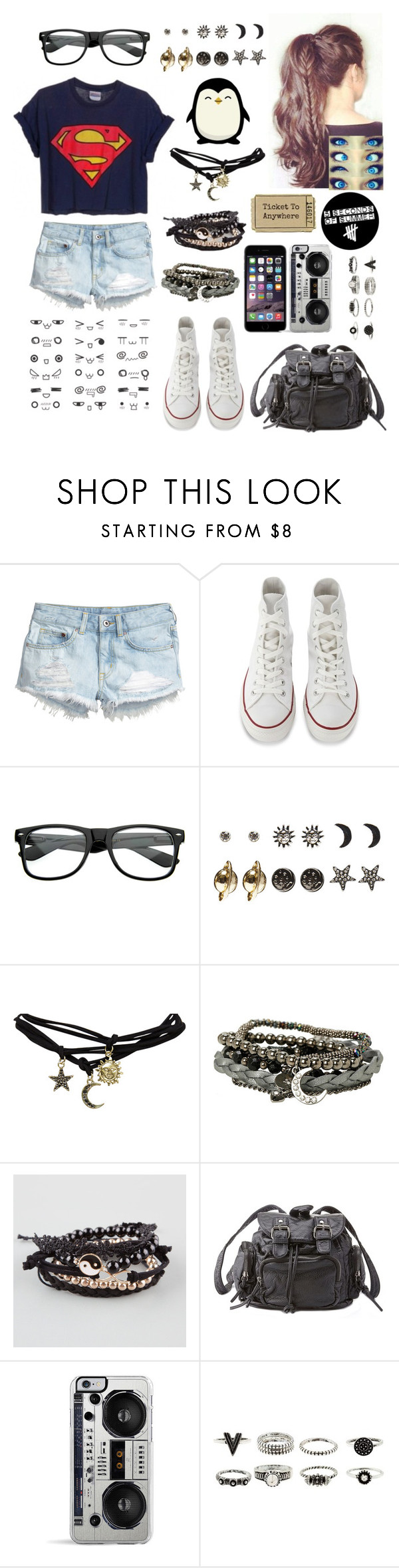 """""""This is me"""" by littlenerd10 ❤ liked on Polyvore featuring H&M, Converse, Wet Seal, Full Tilt, Hansen, Charlotte Russe, Zero Gravity and nerdsoutfit"""