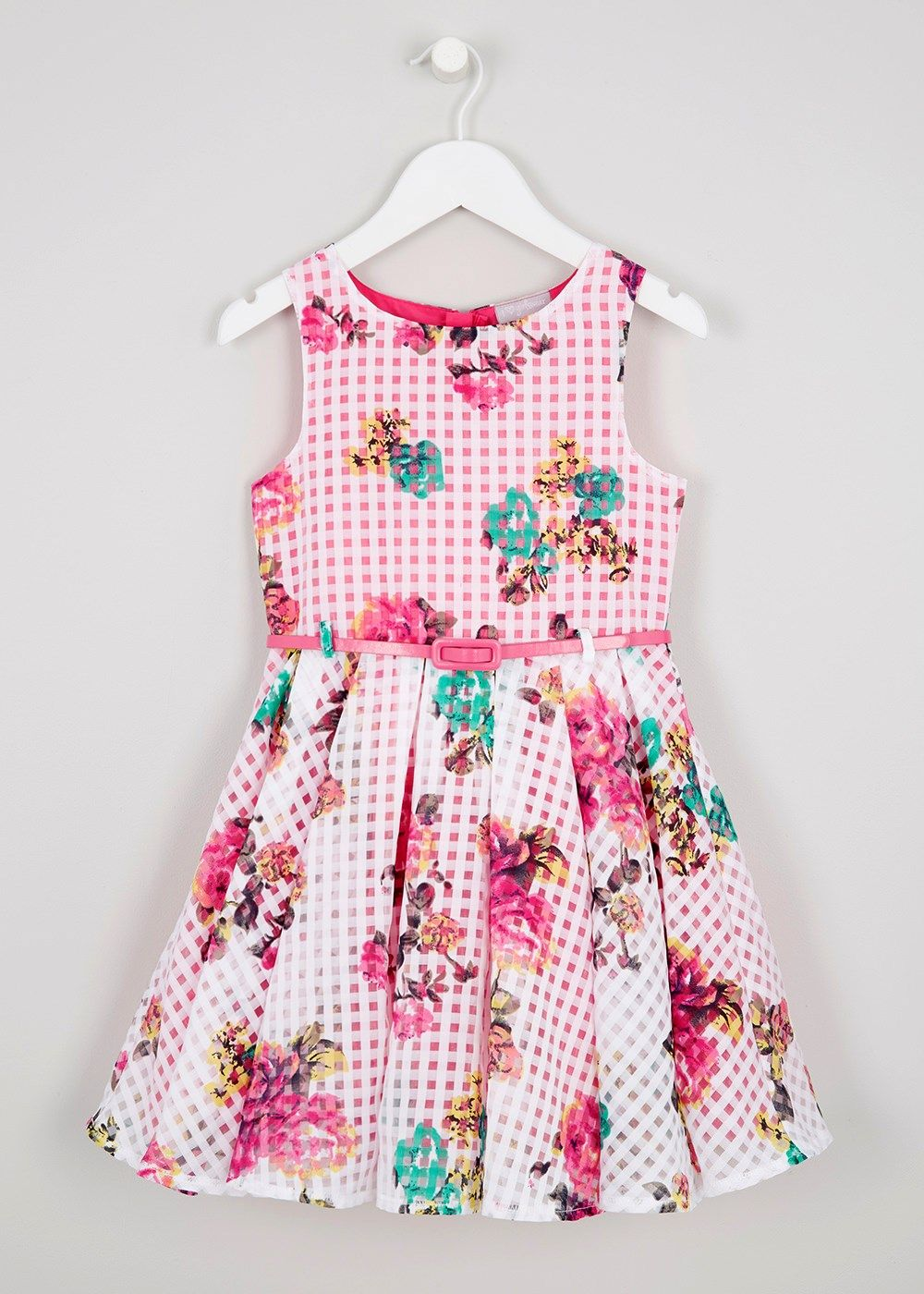 Girls Floral Burnout Dress (3-13yrs) - Matalan | children\'s clothes ...