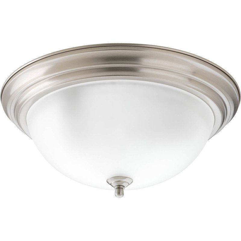 Progress lighting p3926 eb 15 1 4 three light flush mount ceiling