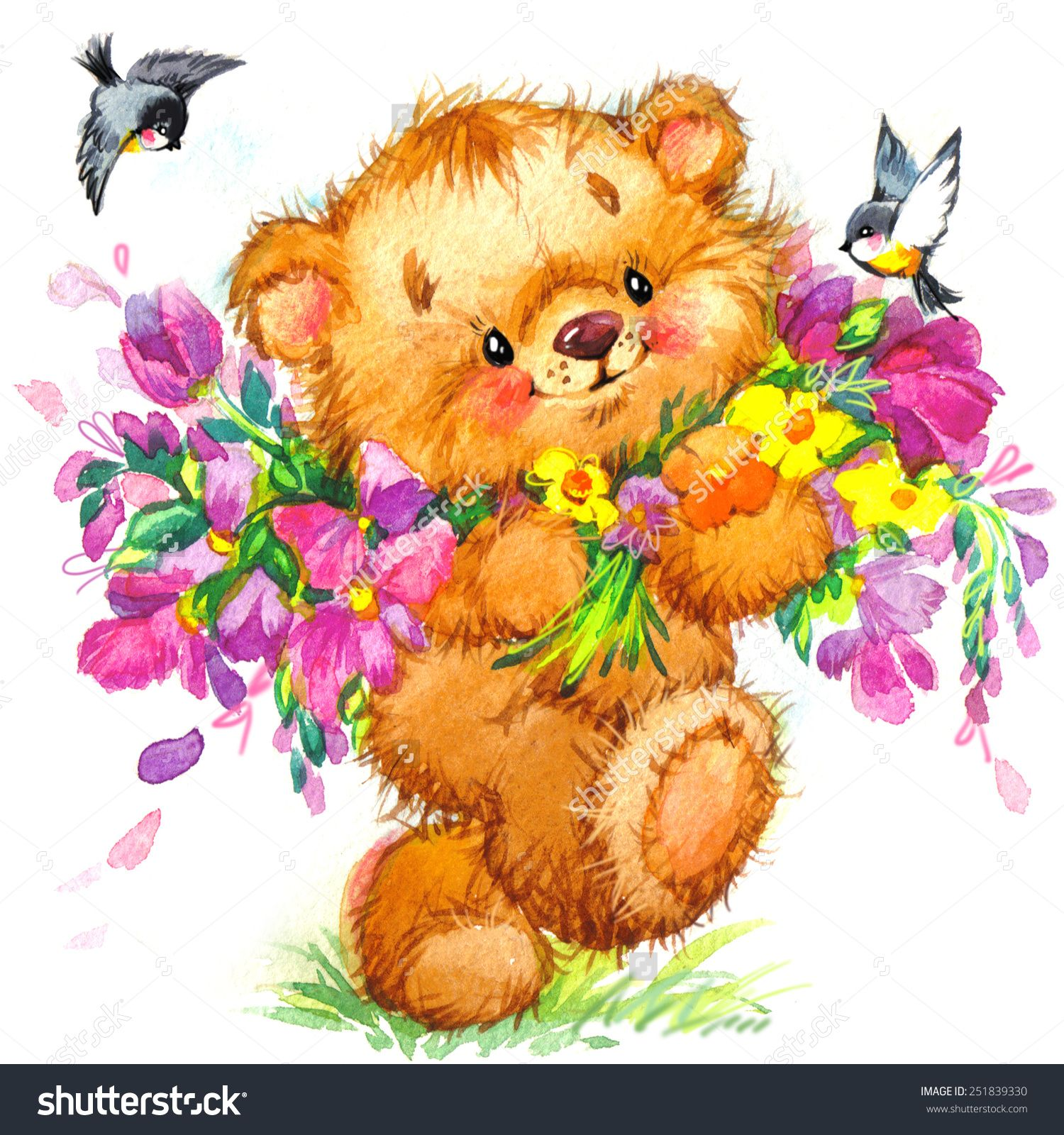 Teddy Bear Holding A Heart Drawing at GetDrawings.com ...