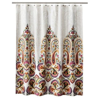 Mudhut Samovar Shower Curtain, Cream   Eclectic   Shower Curtains   By  Target