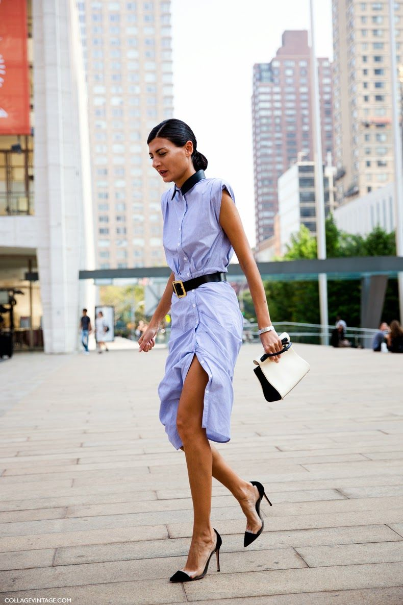 The Shirt Dress How To Wear A Spring Staple Giovanna