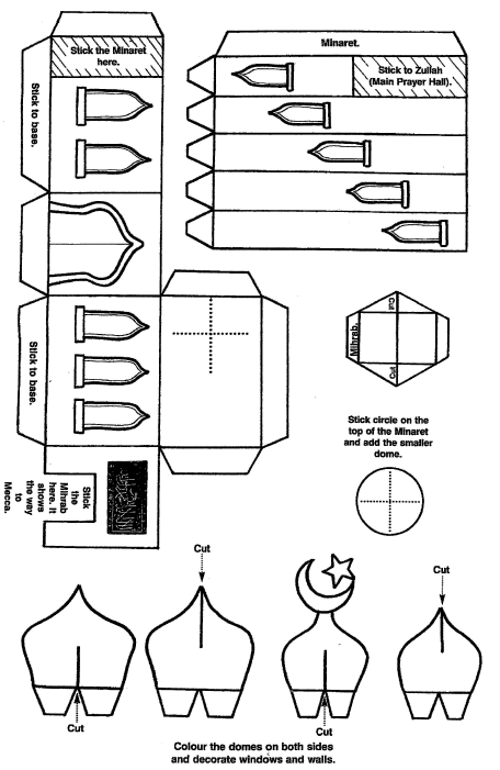 This is the 3D mosque model template with instructions