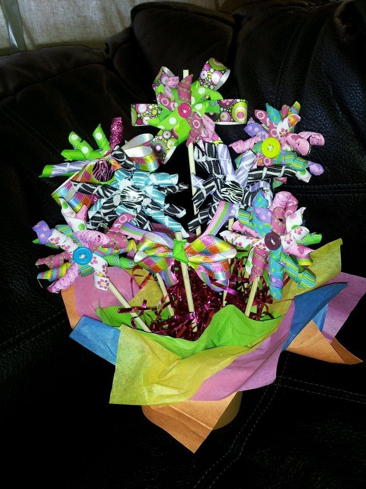 Flower pot centerpiece ideas of quot jazi bows
