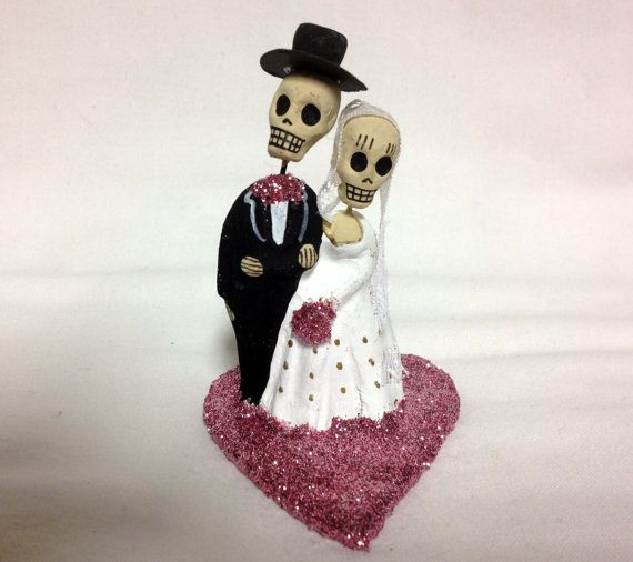 skeleton wedding cake toppers pastel pink till do us part skeleton and groom 20175