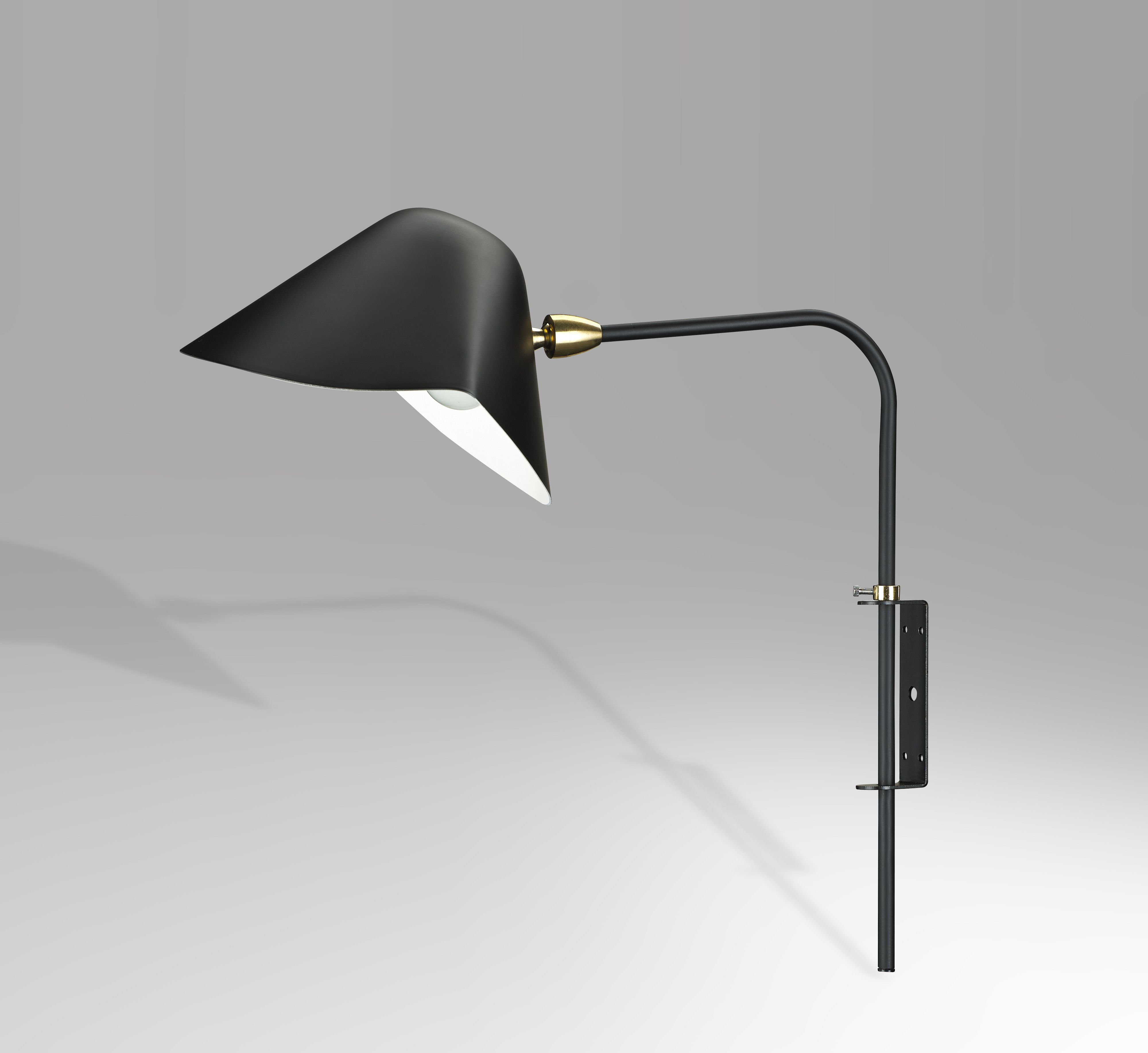 Antony wall sconce black wall sconces mid century modern and antony wall sconce black amipublicfo Image collections