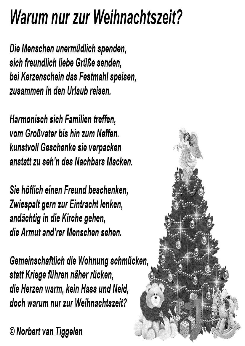 Weihnachten Advent Van Tiggelen Gedichte Menschen Leben Weisheit Welt Erde Gesel Weihnachten Spruch Gedicht Weihnachten Gedicht Weihnachten Besinnlich